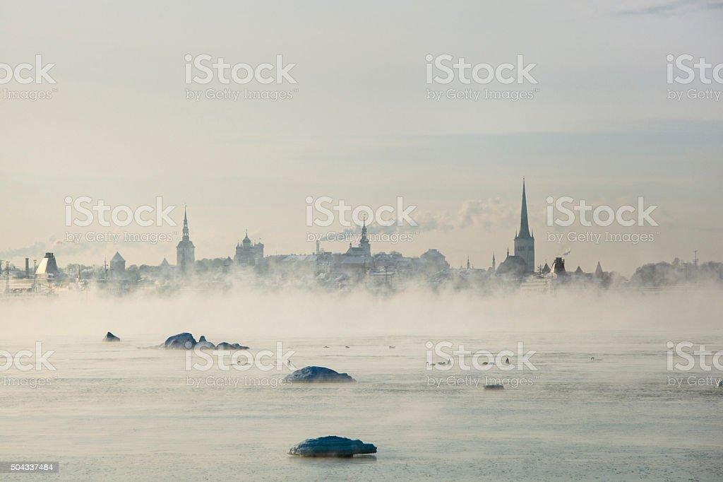 Winter In Tallinn stock photo