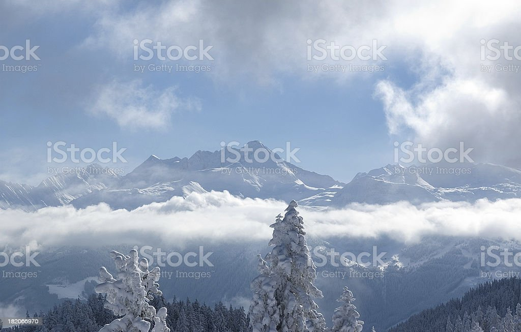 Winter in the Alpes stock photo