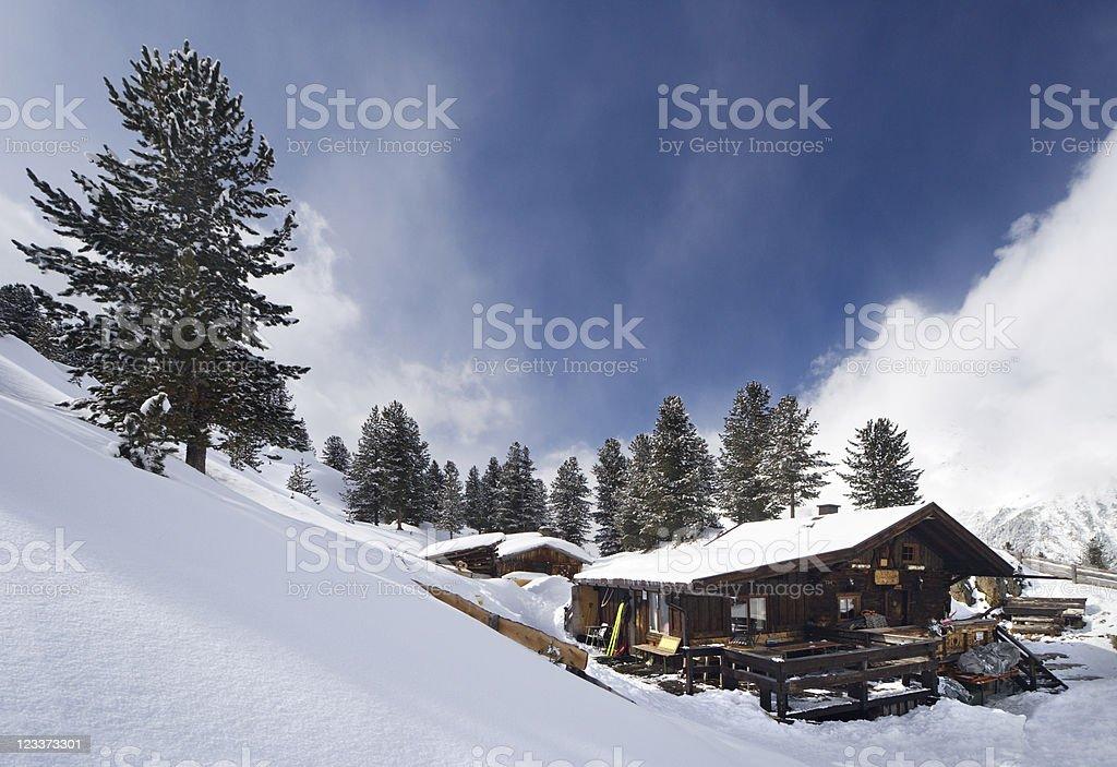 Winter In The Austrian Alps stock photo