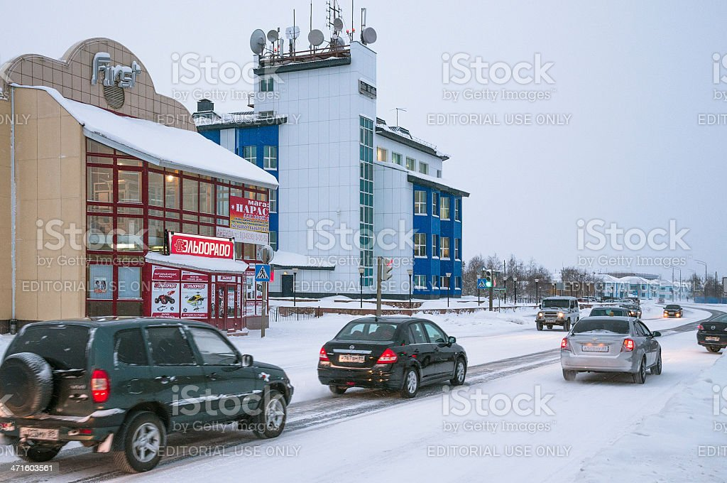 Winter in the city. royalty-free stock photo