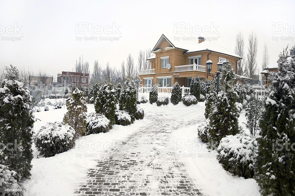 Winter in the country. stock photo