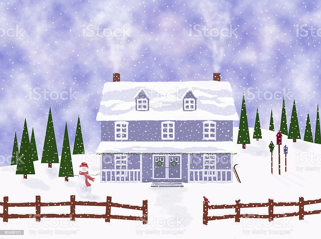 Winter in the country royalty-free stock photo