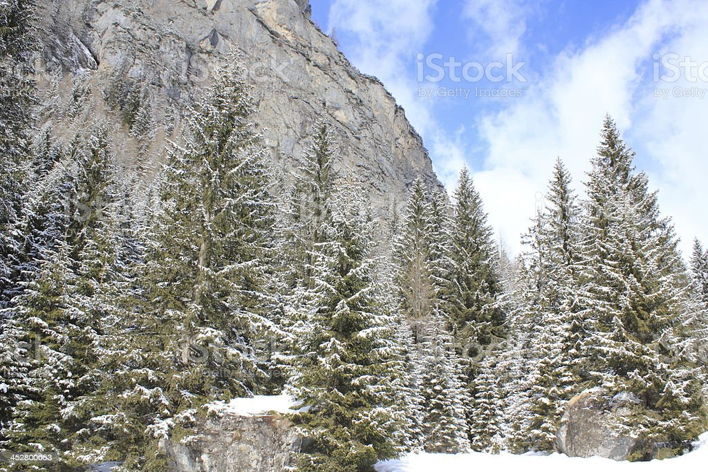 Winter in the Dolomites, Italy stock photo