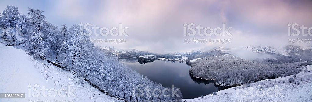 Winter in the English Lake District stock photo