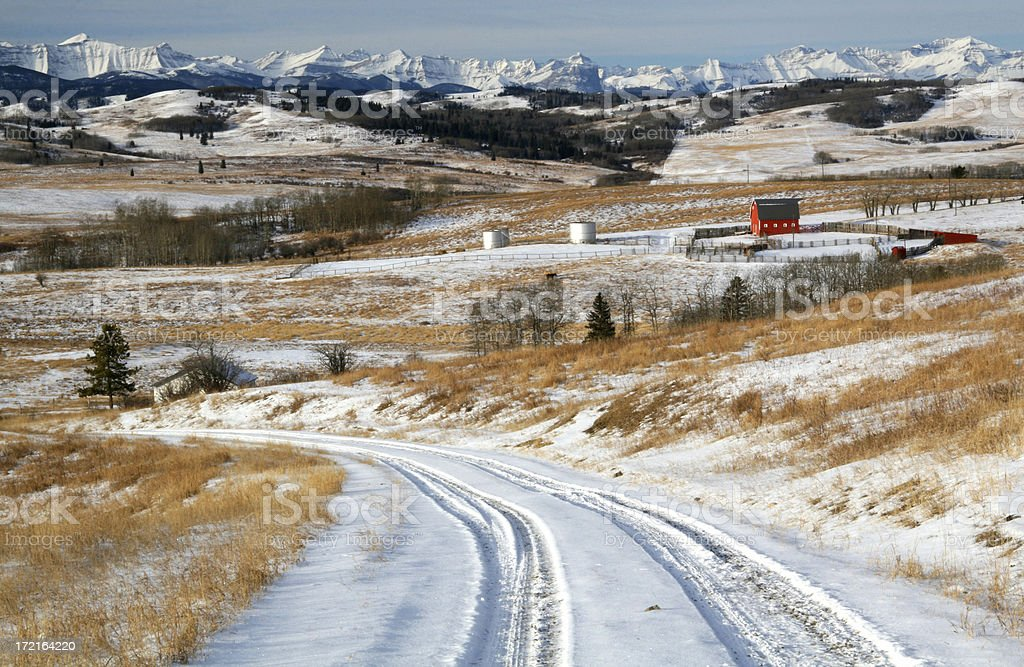 Winter in the Foothills stock photo