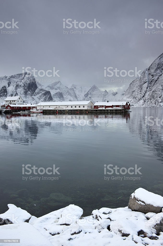 Winter in the Lofoten Islands royalty-free stock photo