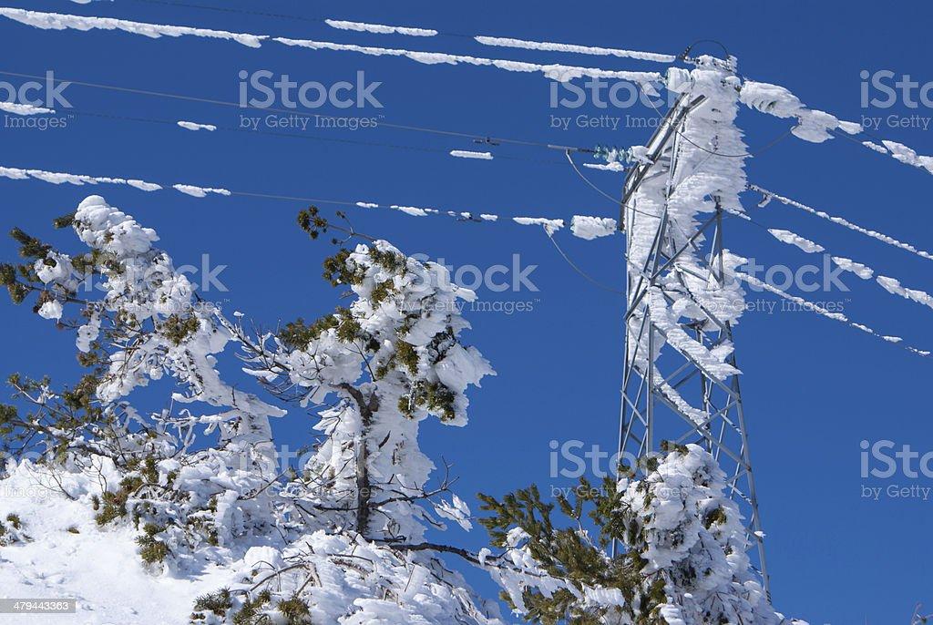 Winter in the mountain navacerrada madrid,spain, stock photo