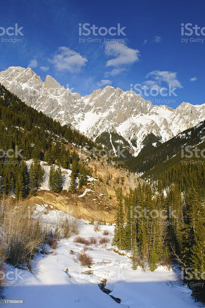Winter in the Mountains stock photo