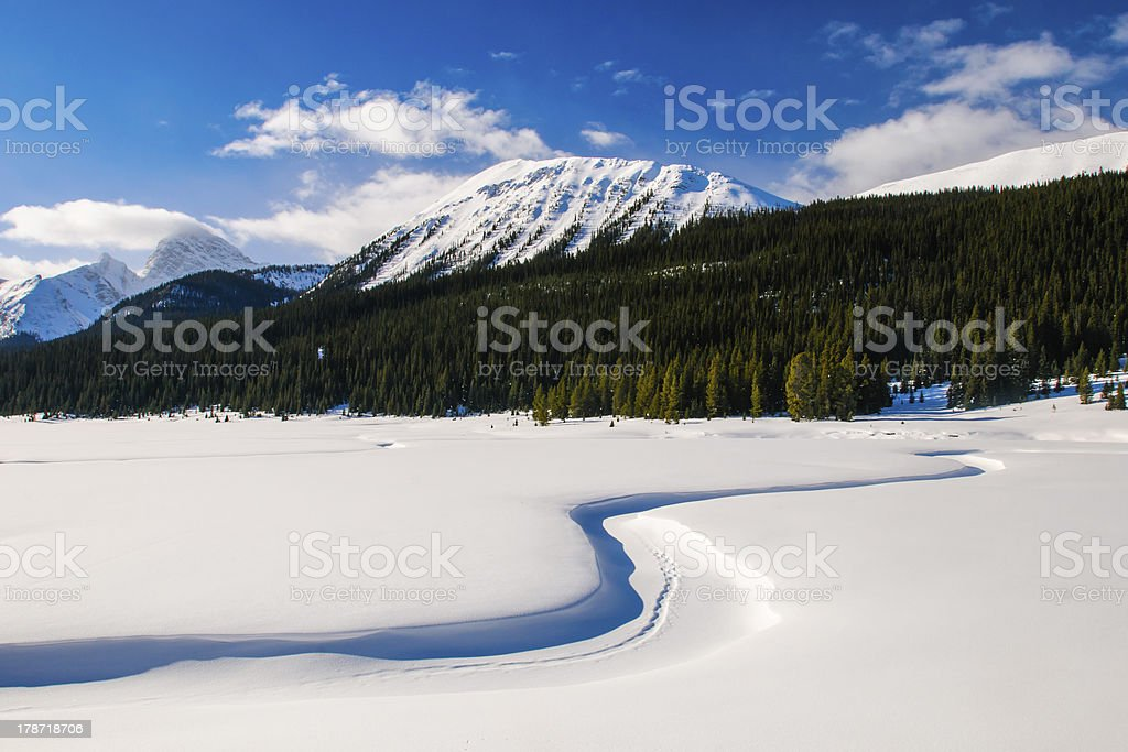 Winter in the mountains royalty-free stock photo