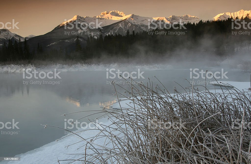 Winter in the Rockies royalty-free stock photo