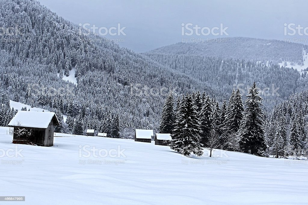 Winter in the Tannheim valley/Austria royalty-free stock photo