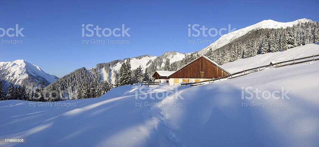 winter in tirol royalty-free stock photo
