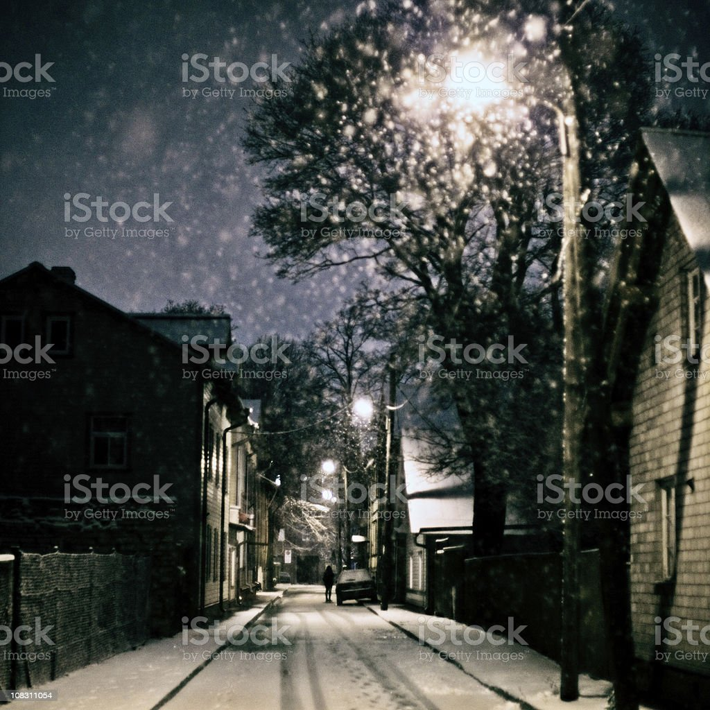 winter in town royalty-free stock photo