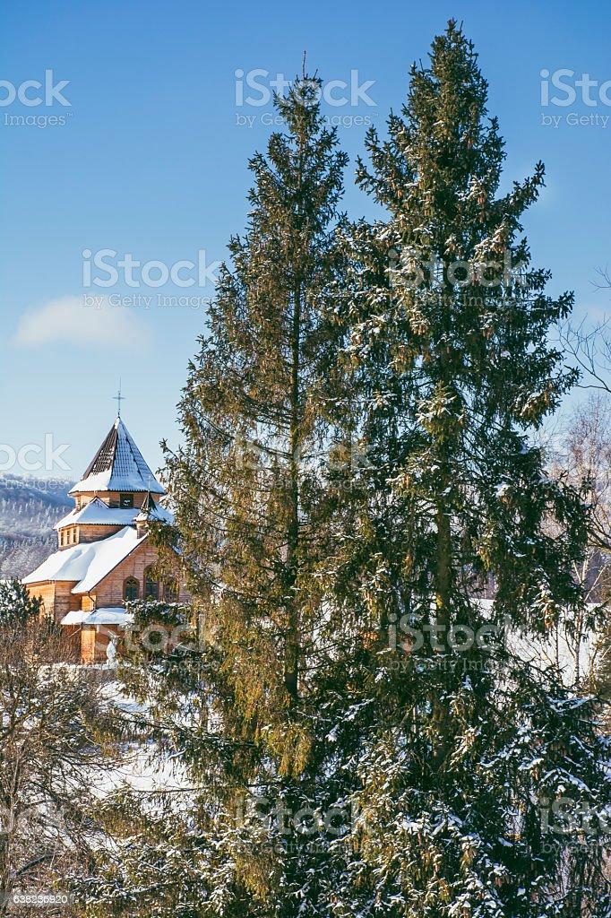 winter in Ukraine stock photo