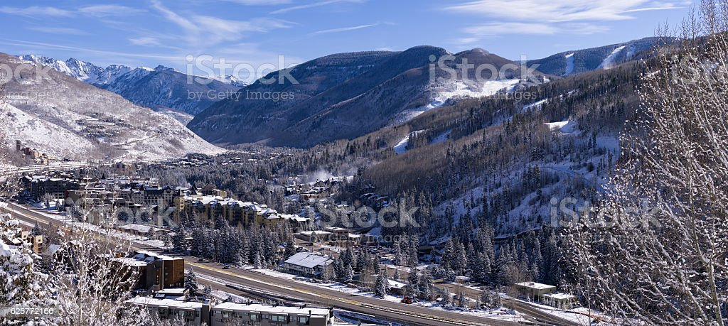 Winter in Vail Colorado stock photo