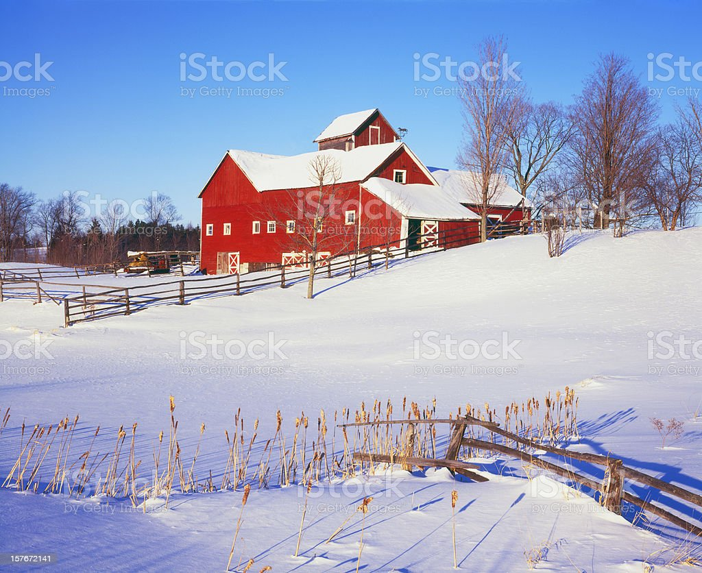 Winter In Vermont royalty-free stock photo