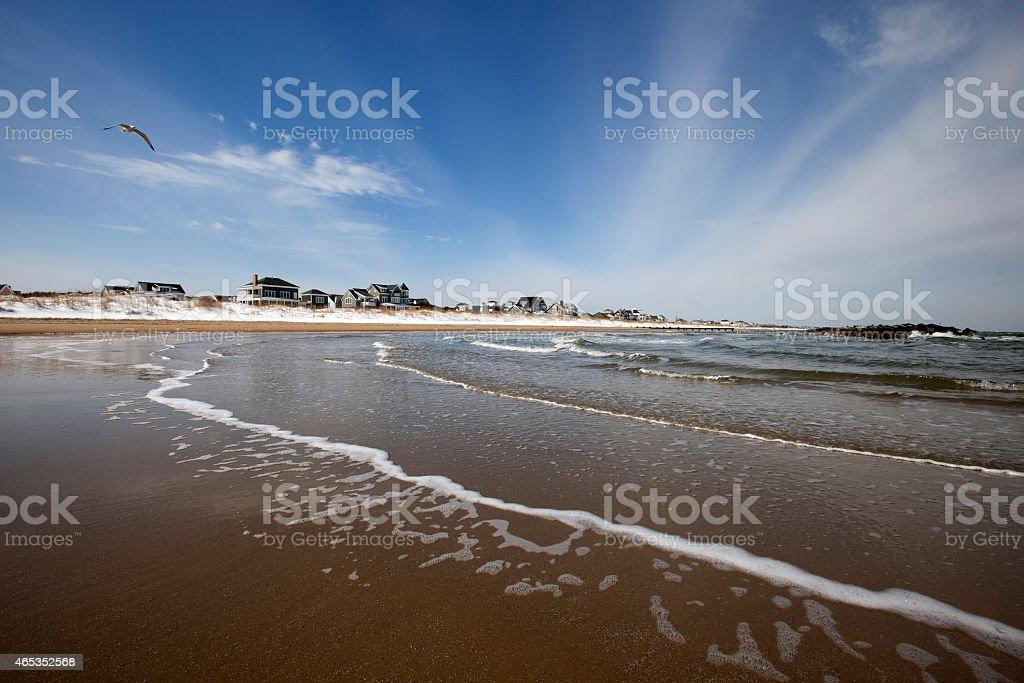 Winter in Virginia Beach stock photo