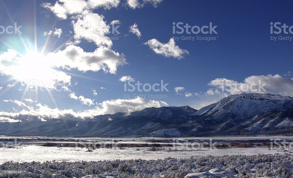 Winter in Washoe Valley stock photo