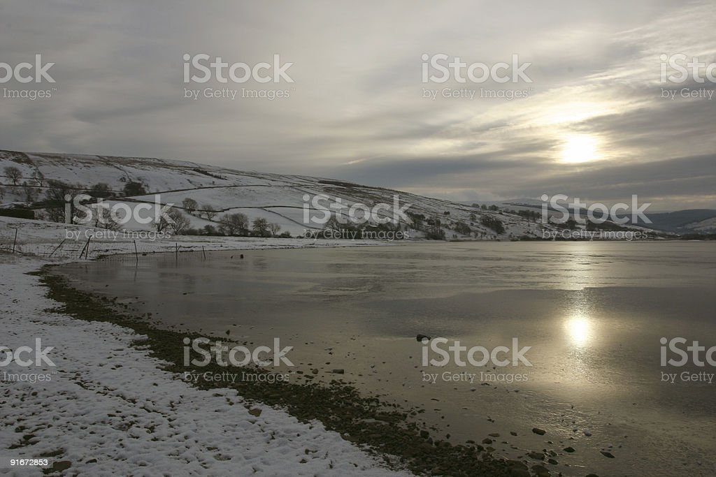 Winter in Yorkshire countryside, England royalty-free stock photo
