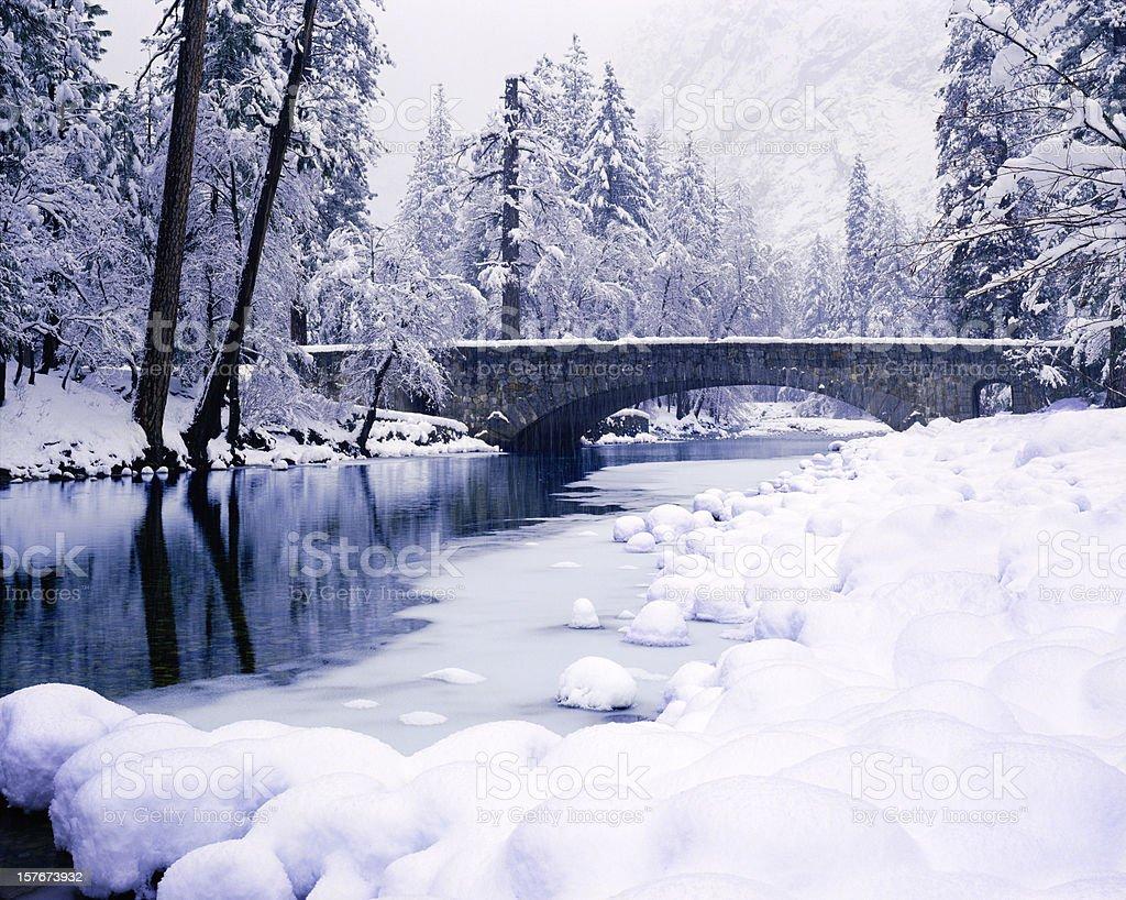 Winter In Yosemite National Park royalty-free stock photo