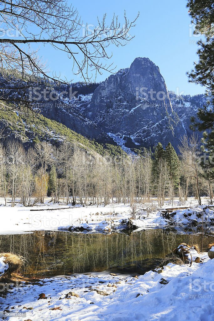 Winter in Yosemite National Park royalty-free stock photo