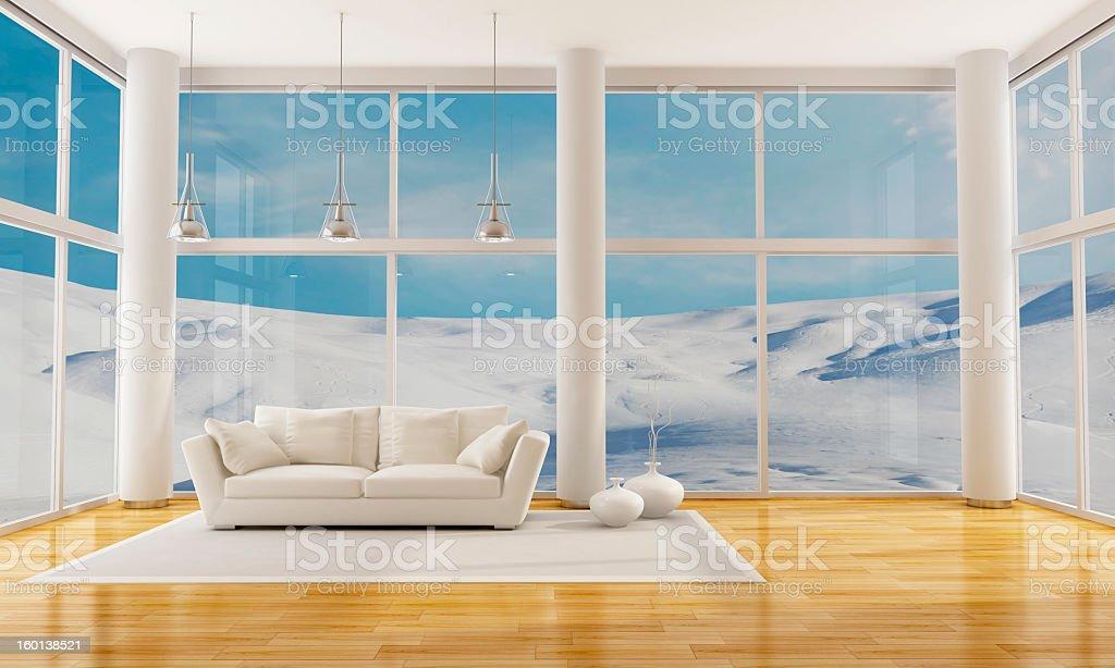 Winter Interior royalty-free stock photo