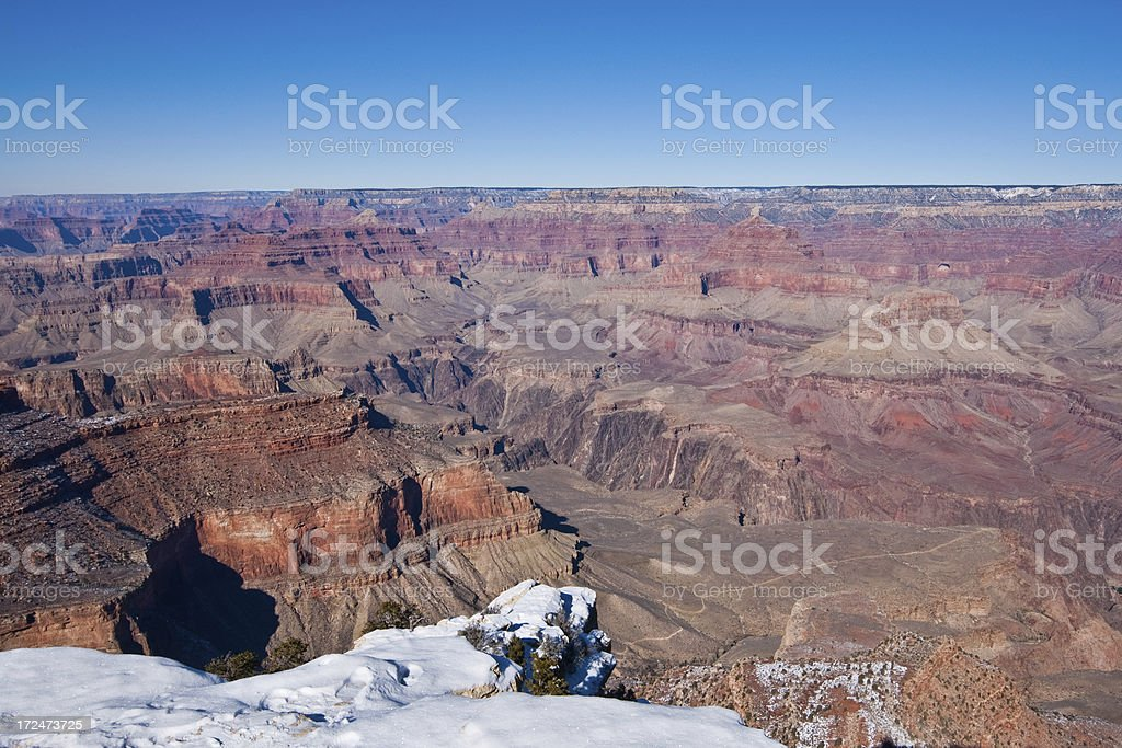 Winter at the Grand Canyon royalty-free stock photo