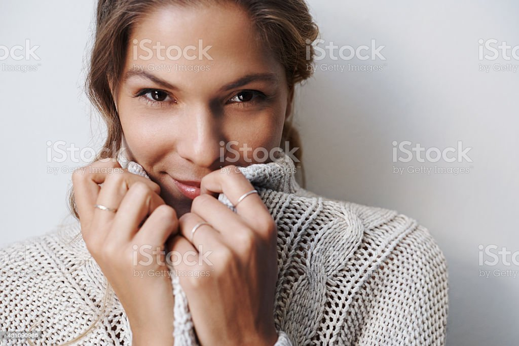 Winter is a time for snuggling stock photo