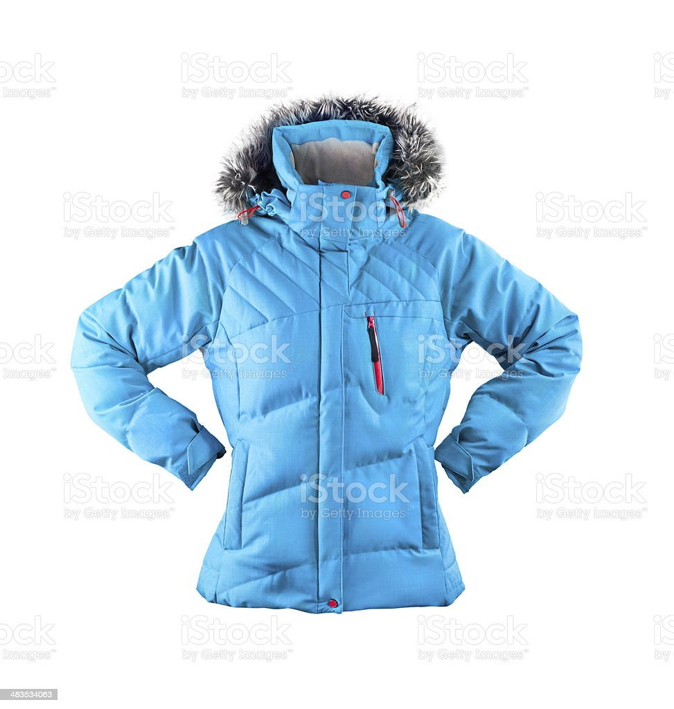 winter jacket isolated on white stock photo