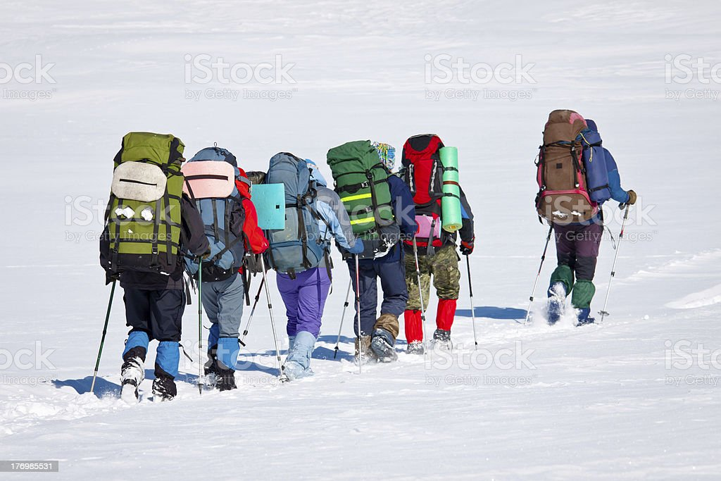 winter journey royalty-free stock photo
