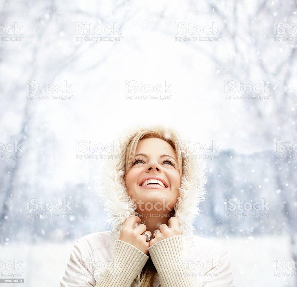 Winter joy. stock photo