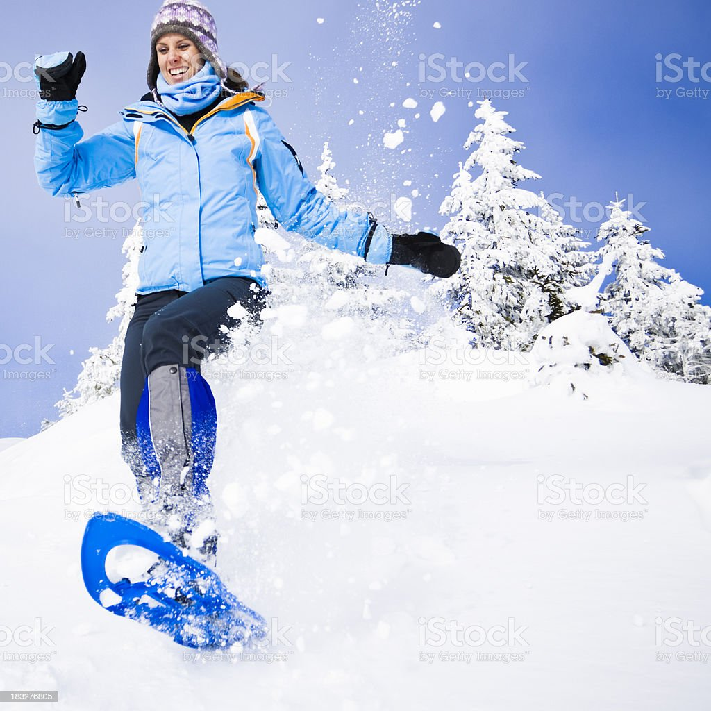 winter joy stock photo