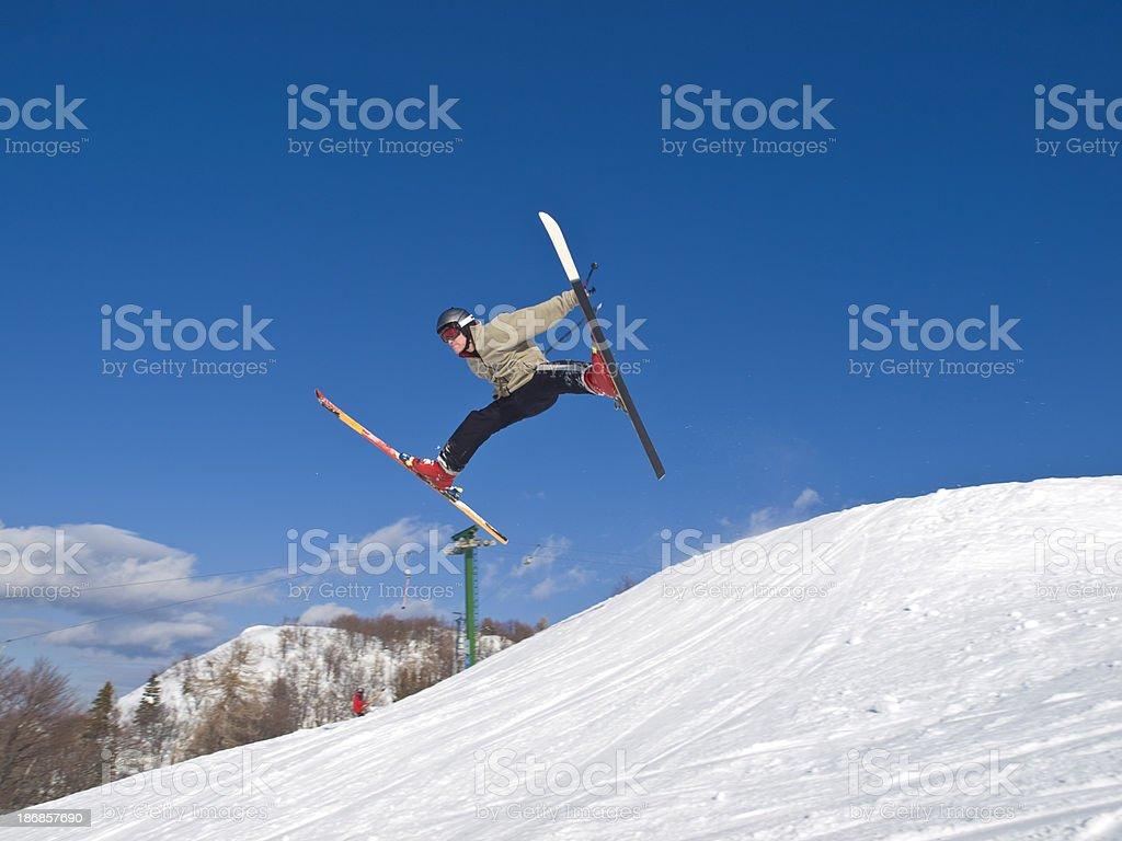 Winter joy stock photo