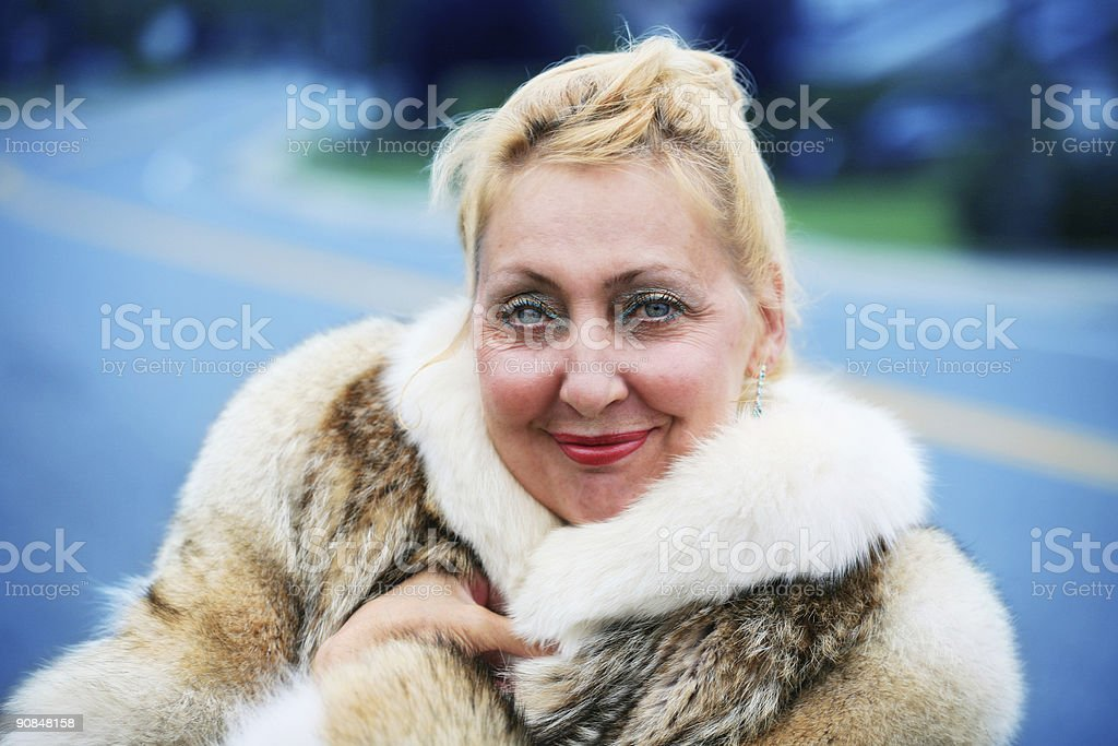 Winter Lady royalty-free stock photo
