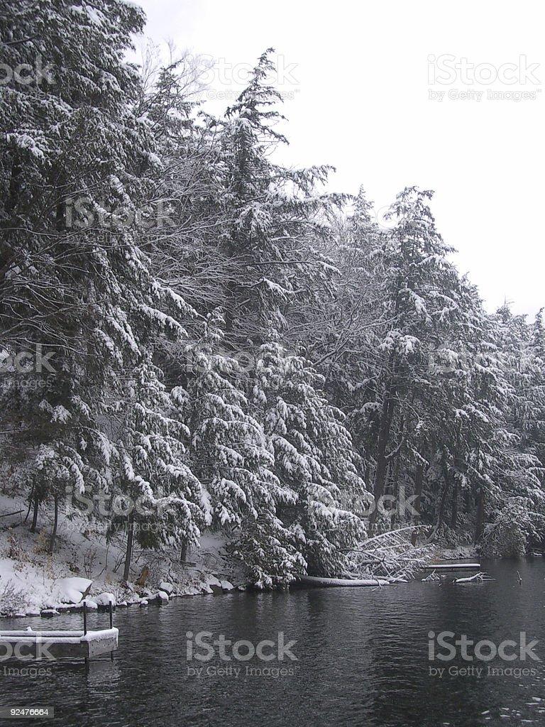 Winter Lake 3 stock photo
