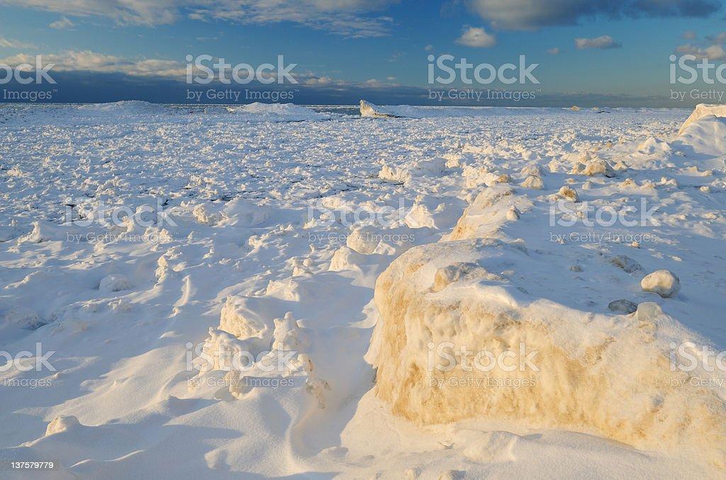 Winter, Lake Michigan stock photo