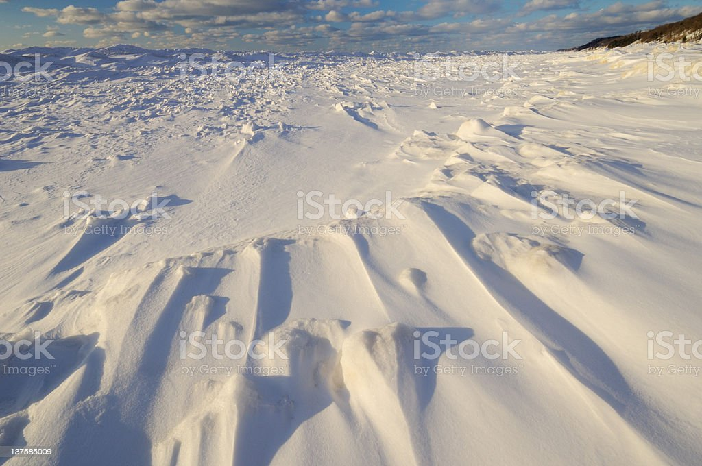 Winter, Lake Michigan Shoreline stock photo