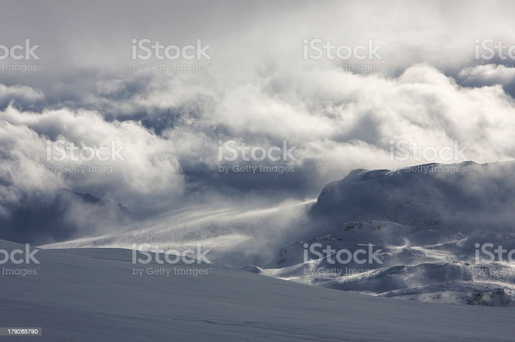 Winter landscape and glacier royalty-free stock photo