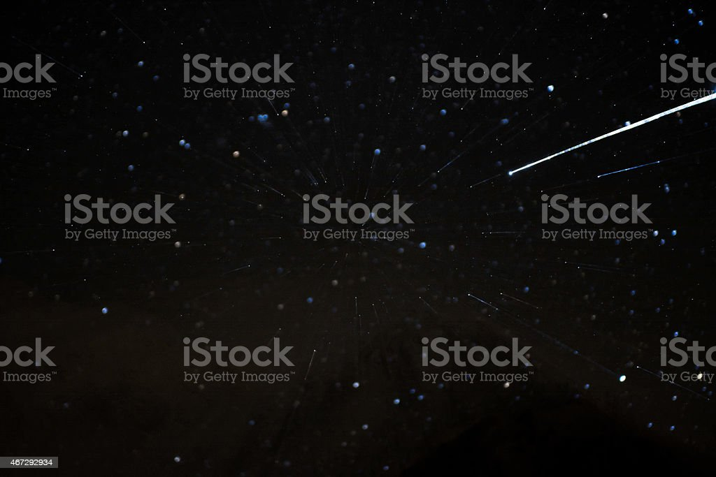 winter landscape at night star trails stock photo