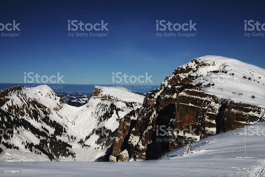 Winter landscape at Switzerland royalty-free stock photo