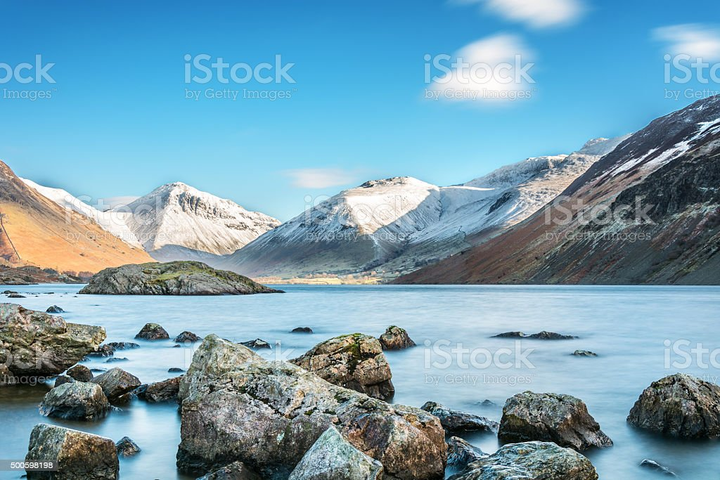 Winter Landscape At Wastwater. stock photo