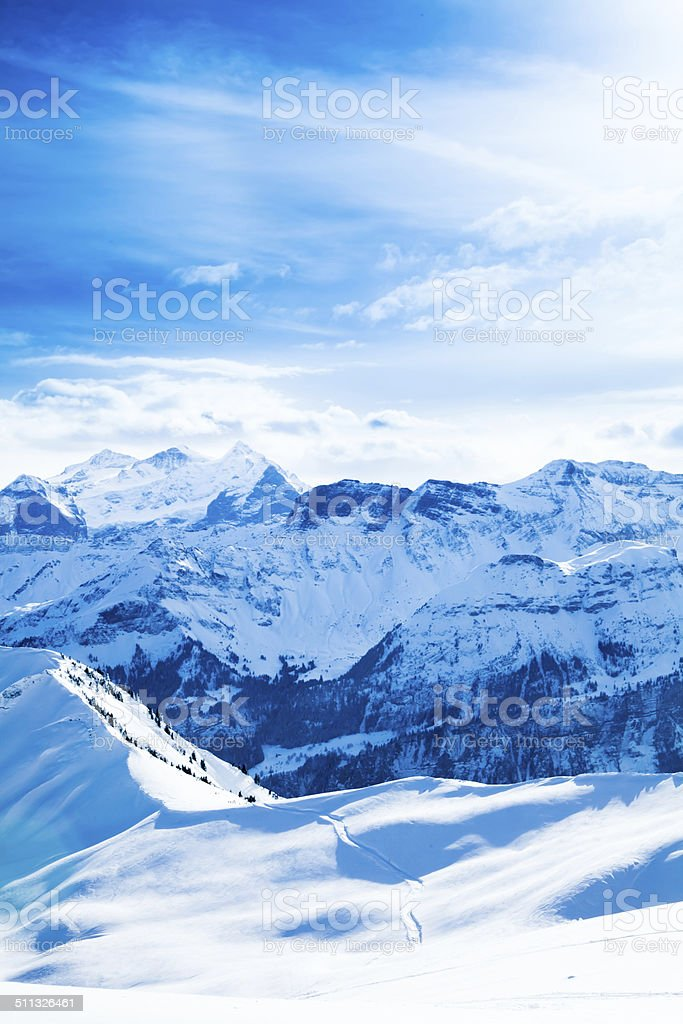 Winter landscape.  Beautiful winter. stock photo