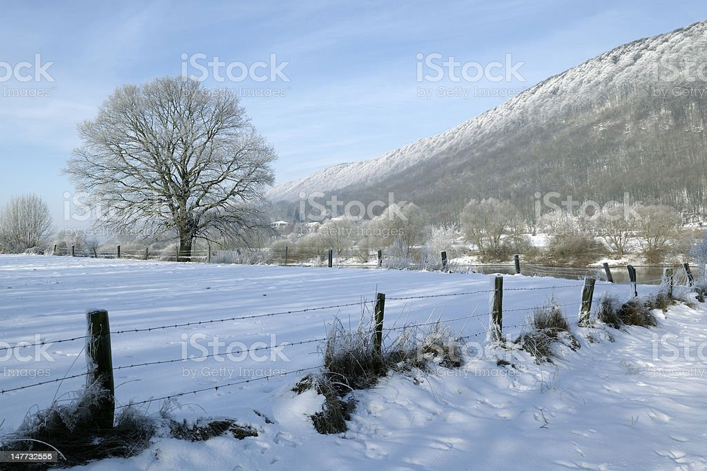 Winter landscape countryside in Northern germany (XXXL) royalty-free stock photo