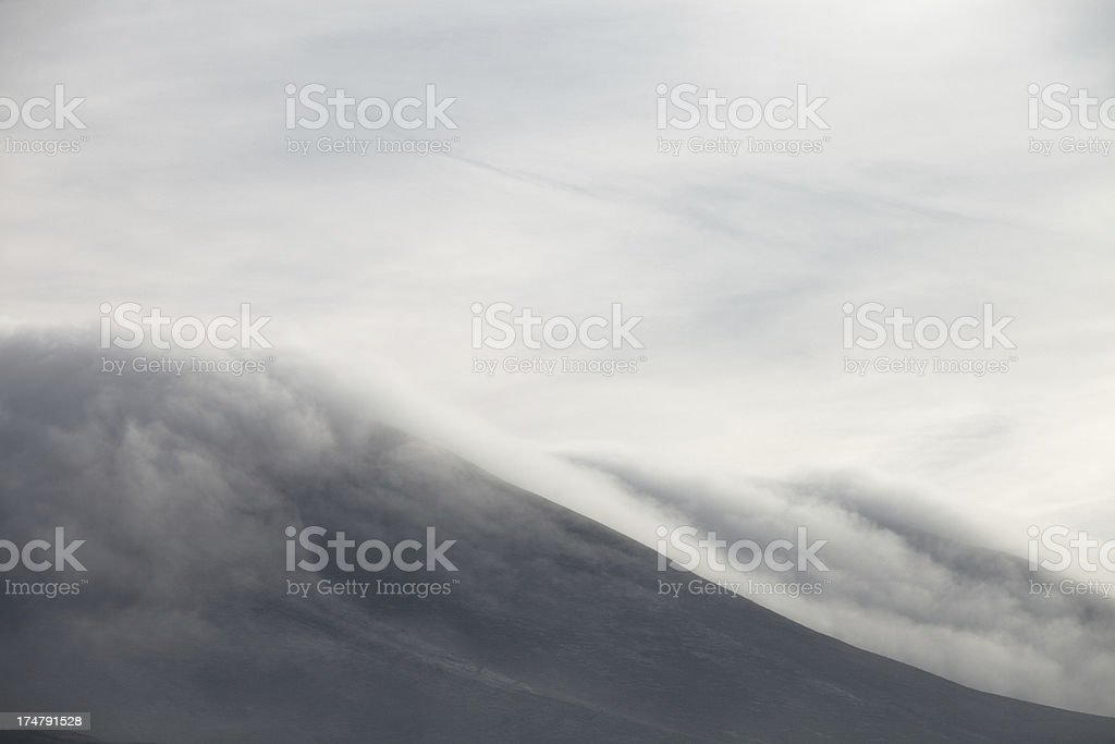 Winter Landscape Hills & Fog - Nature Background royalty-free stock photo