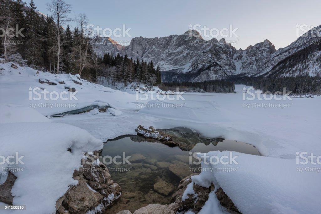Winter landscape II stock photo