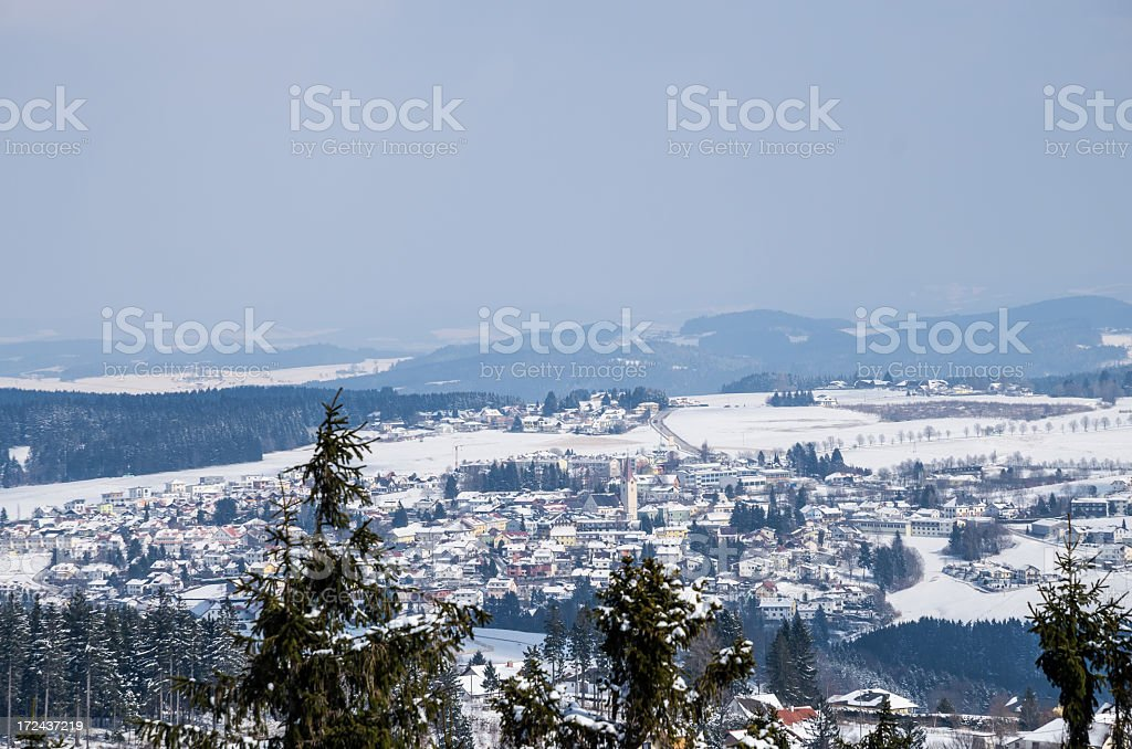 Winter landscape in Austria royalty-free stock photo