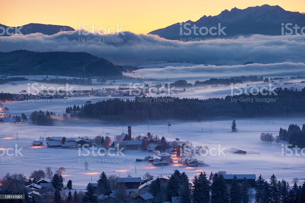 winter landscape in bavaria, germany' stock photo
