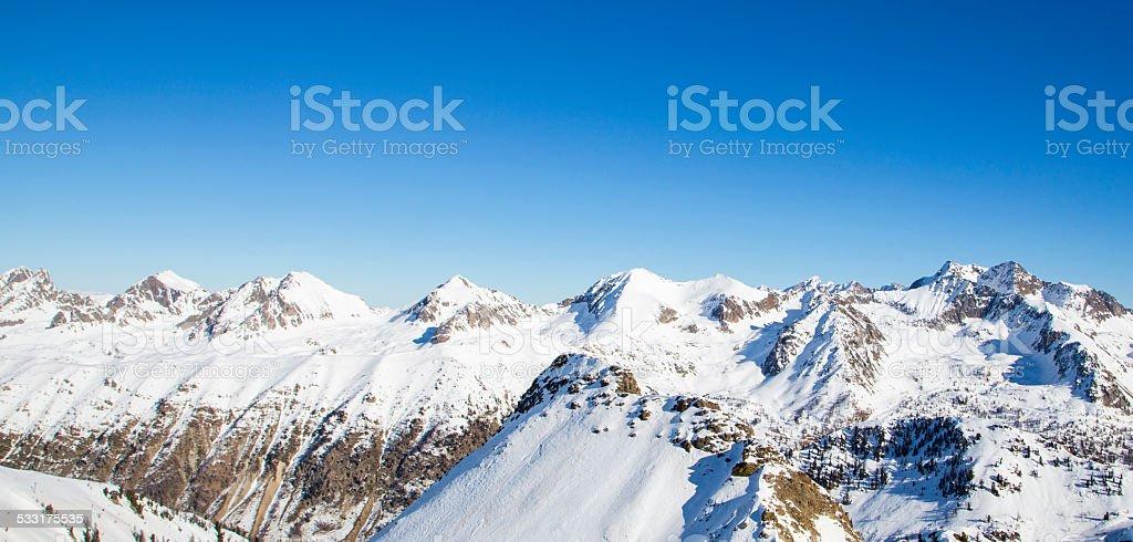 winter landscape in France stock photo