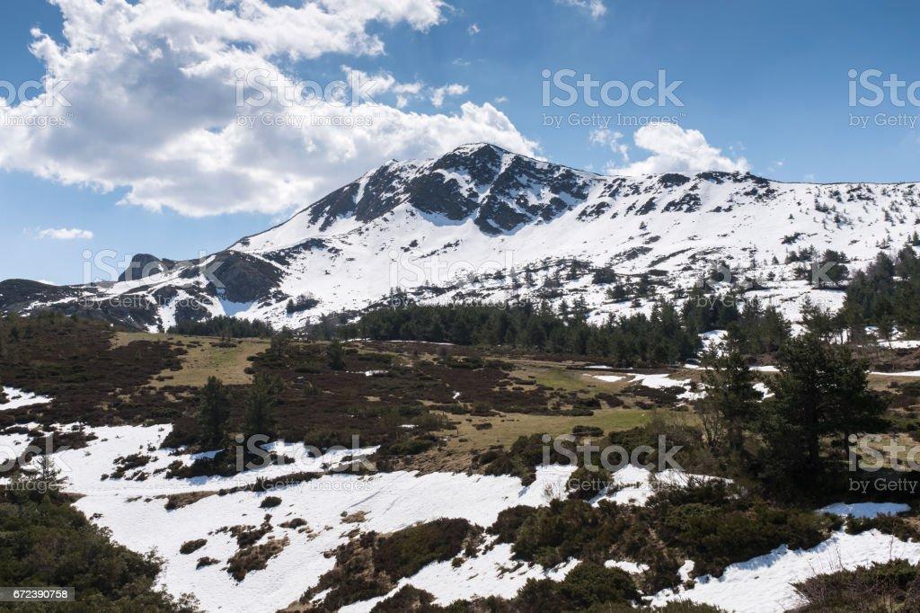 Winter Landscape in Picos de Europa mountains stock photo
