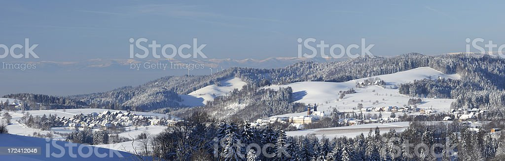 Winter landscape in the Black Forest, Germany royalty-free stock photo